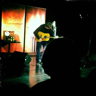 Mit Robin Proper-Sheppard im Theater