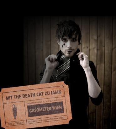 Für Kurzentschlossene: Mit the death cat zu IAMX ins Gasometer!