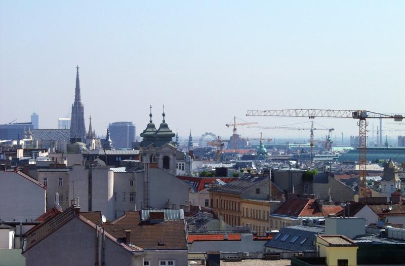 Baukräne in Wien (Foto von Sabine B.)